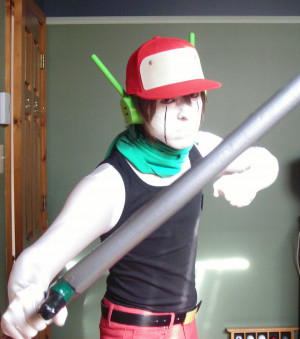 Quote Cosplay (Sword fight stance) by Quote-CurlyBrace