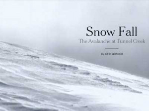 New York Times released a new serial story by John Branch called 'Snow ...