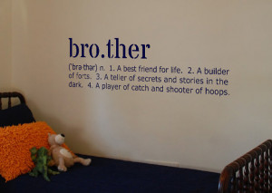 Brother Definition Vinyl Wall Art Decal 10