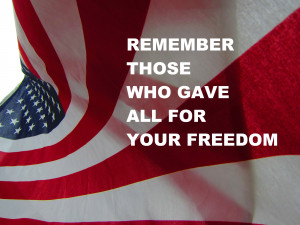 Day Flag Memorial Day Flag Happy Memorial Day Flag With Quotes ...