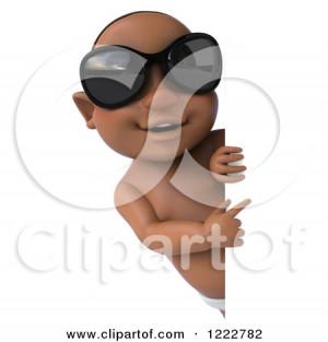 Black Toddler Boy With Devil Horns Standing Diaper
