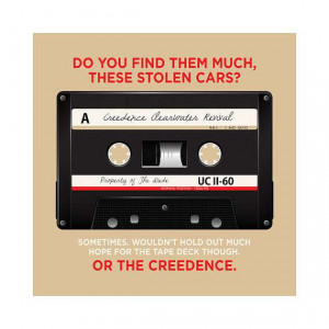 The Big Lebowski Creedence Tape Art Print 10x10 by FaithHopeTrick