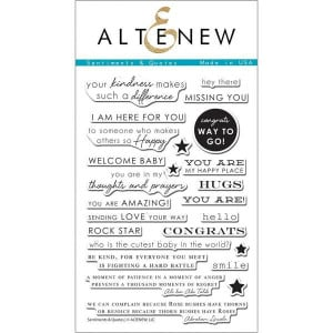 Altenew Clear Stamps, Sentiments & Quotes