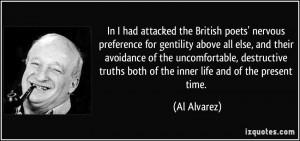 More Al Alvarez Quotes