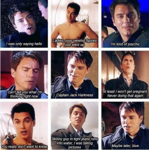 Captain Jack Harkness. I love how on Torchwood he says he's never ...