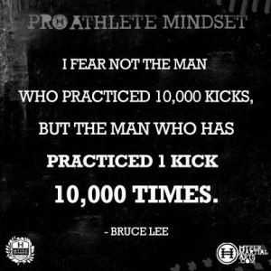 Inspirational Quote by Bruce Lee for a Pro Athlete Mindset | Hyper ...