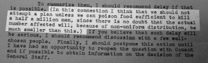 The other is Oppenheimer's criteria for the project being worth ...