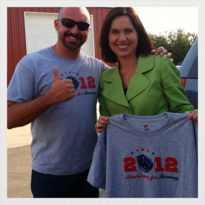 Senate candidate Elizabeth Emken with supporters on Sunday Check out