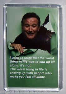Detalles de Robin Williams Quote movie poster fridge magnet New - Mrs ...