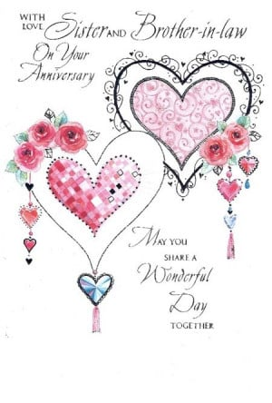 25th Wedding Anniversary Gift For Sister And Brother In Law : Wedding Anniversary Quotes For Sister And Brother In Law Sister and ...