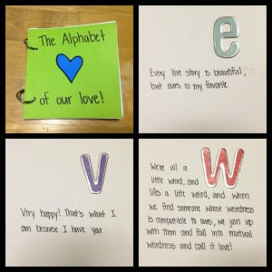 Alphabet of our love book! Quote and memories!: Alphabet Of Our Love ...