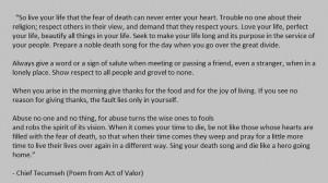 Chief Tecumseh (Poem from Act of Valor): Tecumseh Poem, Movies, Words ...