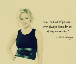 Fat Loui Diaries: Avril Lavigne quotes on her pict! :D
