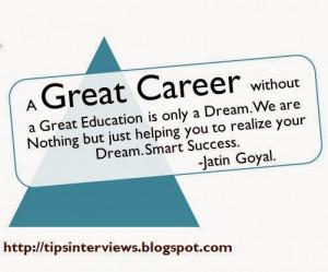 Career Quotes for Success fullfill your Dreams