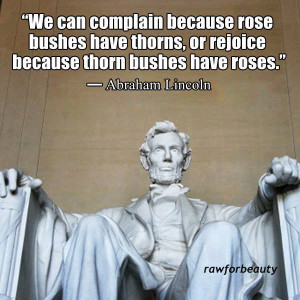 ... rose bushes have thorns, or rejoice because thorn bushes have roses