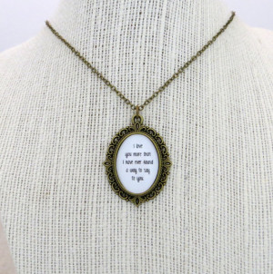 Ben Folds - The Luckiest Inspired Lyrical Quote Pendant Necklace