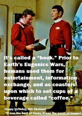 Great quote. For the love of Star Trek!