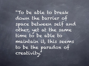 break down the barrier... #quote