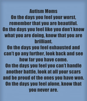 Encouragement For Autism Moms