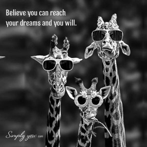 Love this #Quote! The #Giraffes in #sunglasses make my day!