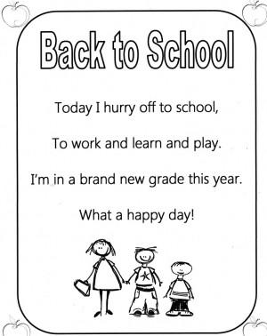 Poem - Back to School Poem!