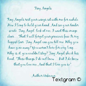 Tiny angels quote. RIP