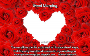 Good Morning Tuesday. 8 Beautiful Love Quotes for the day