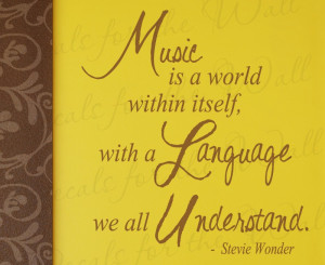 Music Stevie Wonder Wall Decal Quote