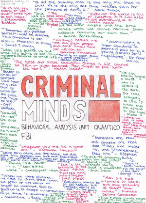 CRIMINAL MINDS Quotes by becksbeck