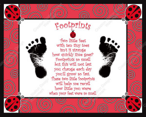 Create a cherished keepsake of your baby's footprints. This print can ...