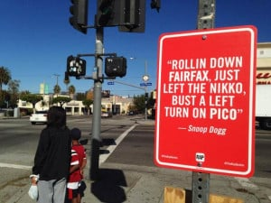 RAP QUOTES L.A – Geolocalized Street Art in Los Angeles