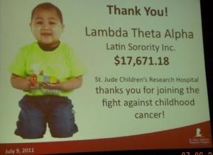 2011-2012 St. Jude Philanthropic effort