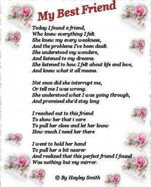 poems. irthday cards for friends: Friendship Poem, Best Friends Quotes ...