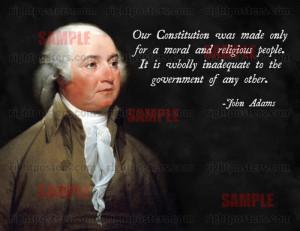 John Adams Religious Quote Poster