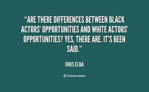 Are there differences between black actors' opportunities and white ...