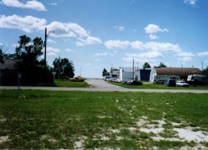 Main Street: Bateman, Saskatchewan; View from the trees in front of ...