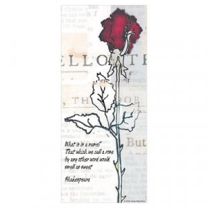 Romeo & Juliet Rose Quote Poster
