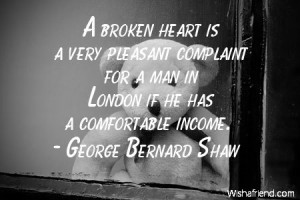 brokenheart-A broken heart is a very pleasant complaint for a man in ...