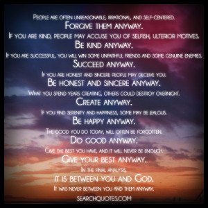 Inspirational Quote By Mother Teresa