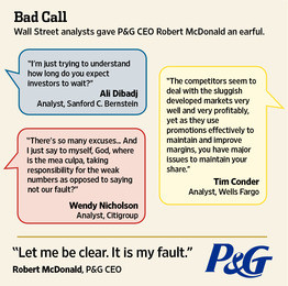 Angry Analysts Scorch P&G CEO