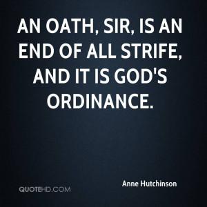 Anne Hutchinson Quotes