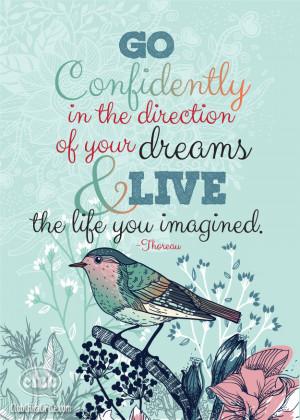 Favorite Thoreau Quote and Graduation Gift Idea