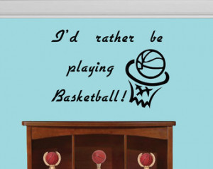 ... decal, Boys room decal - Wall sticker - Viny decal - Basketball quote