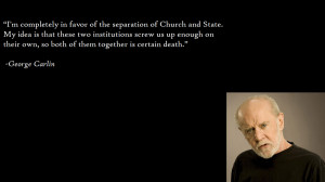 Completely In Favor Of The Separation Of Church And State.