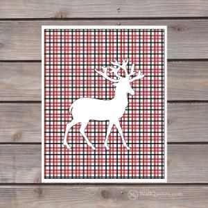 Plaid Reindeer Wall Quotes™ Giclée Art Print | WallQuotes.com