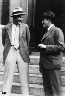 Fritz Zwicky and Otto Stern, ca. 1928. Photo courtesy of AIP Emilio ...