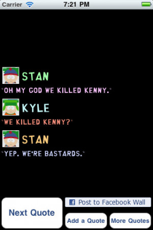 Download Funny South Park Quotes iPhone iPad iOS
