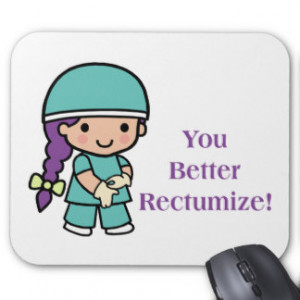 Colon Cancer Sayings Mouse Pads