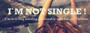 Not Single Quote Facebook Cover