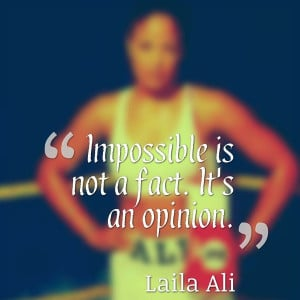 Impossible is not a fact. It's an opinion.